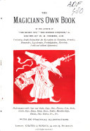 The Magician s Own Book