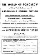 Astounding Science-fiction