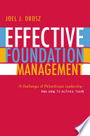 Read Online Effective Foundation Management For Free