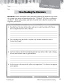 Tuck Everlasting Close Reading and Text-Dependent Questions