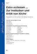 Extra ecclesiam ... zur Institution und Kritik von Kirche