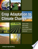 Crop Adaptation to Climate Change Book