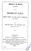 First Steps Of The Zulu Mission October 1859