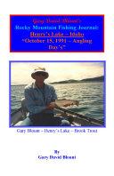 BTWE Henry s Lake   October 15  1991   Idaho