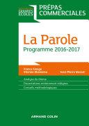 Pdf La Parole - Prépas commerciales - Programme 2016-2017 Telecharger