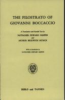 The Filostrato of Giovanni Boccaccio
