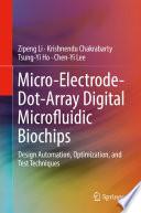 Micro Electrode Dot Array Digital Microfluidic Biochips Book