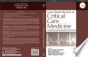 Case Based Review in Critical Care Medicine Book