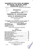 Departments Of State Justice And Commerce The Juciciary And Related Agencies Appropriations For 1977