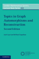 Topics in Graph Automorphisms and Reconstruction