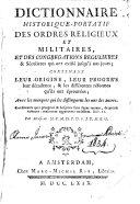 Dictionnaire historique-portatif des ordres religieux et militaires et des congrégations régulières et séculières qui ont existé jusqu'à nos jours... par M.M.C.M.D.P.D.S.J.D.M.E.G.