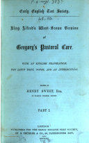 King Alfred s West Saxon version of Gregory s Pastoral care