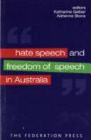 Hate Speech and Freedom of Speech in Australia