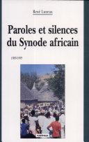 Pdf Paroles et silences du Synode africain (1989-1995) Telecharger