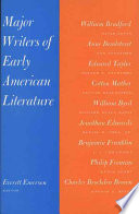 Major Writers of Early American Literature