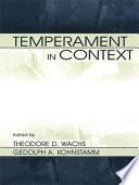 Temperament in Context by Theodore D. Wachs,Robert R. McCrae,Geldolph A. Kohnstamm PDF