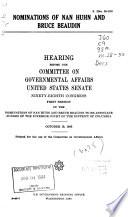 Nomination of Robert H  Morris Book PDF