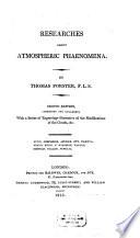 Researches About Atmospheric Phaenomena