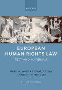 European Human Rights Law: Text and Materials