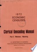 1972 Economic Censuses Book