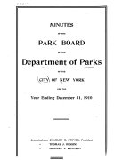 Minutes of the Park Board ...