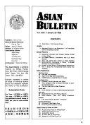 Asian Bulletin