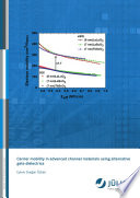 Carrier mobility in advanced channel materials using alternative gate dielectrics