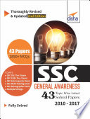 SSC General Awareness Topic-wise LATEST 43 Solved Papers (2010-2017) 2nd Edition