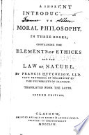 A Short Introduction to Moral Philosophy, in Three Books