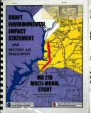 MD-210 Multi-modal Study (Indian Head Highway), Improvements Between I-95/I-495 and MD-228, Prince George's County