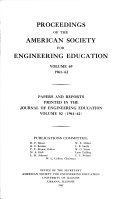 Proceedings of the American Society for Engineering Education