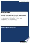 Cloud Computing Business in Saudi Arabia