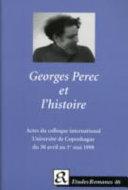 Georges Perec et l'histoire