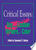 critical essays gay and lesbian writers of color emmanuel  critical essays gay and lesbian writers of color