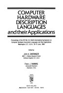 Computer Hardware Description Languages And Their Applications Book PDF