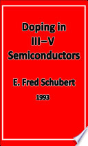 Doping in III V Semiconductors Book