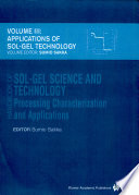 Handbook of sol gel science and technology  3  Applications of sol gel technology