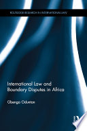 International Law And Boundary Disputes In Africa
