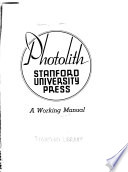 Photolith, Stanford University Press
