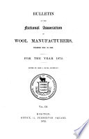 Bulletin of the National Association of Wool Manufacturers