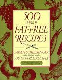 500 More Fat Free Recipes Book