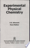 Experimental Physical Chemistry