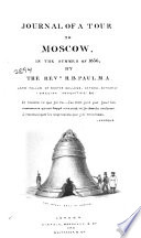 Journal of a Tour to Moscow, in the Summer of 1836 Pdf/ePub eBook