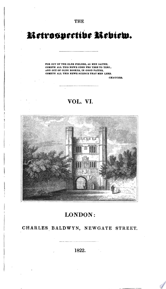 The Retrospective Review  and Historical and Antiquarian Magazine