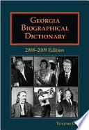 Georgia Biographical Dictionary