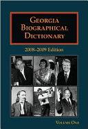 Georgia Biographical Dictionary [Pdf/ePub] eBook
