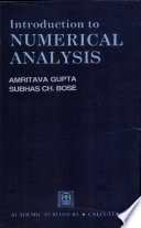 Introduction To Numerical Analysis Book PDF