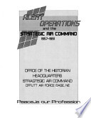 Alert Operations and the Strategic Air Command, 1957-1991