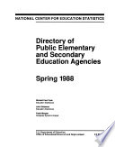 Directory Of Public Elementary And Secondary Education Agencies