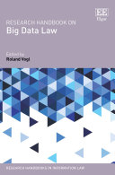 Research Handbook on Big Data Law Pdf/ePub eBook